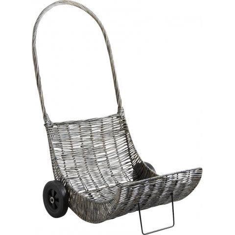 chariot b che en osier gris et m tal pbo1840 achat. Black Bedroom Furniture Sets. Home Design Ideas