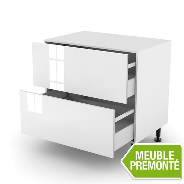 Meuble bas 70cm 2 casseroliers 70x70 lounge courchevel for Meuble 70x70