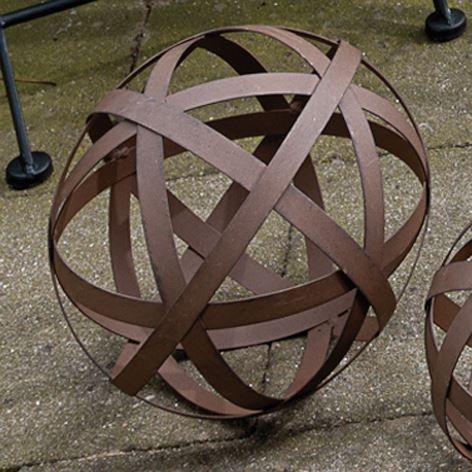 brema boule de d coration 25cm couleur rouille achat vente boule de no l m tal cdiscount. Black Bedroom Furniture Sets. Home Design Ideas