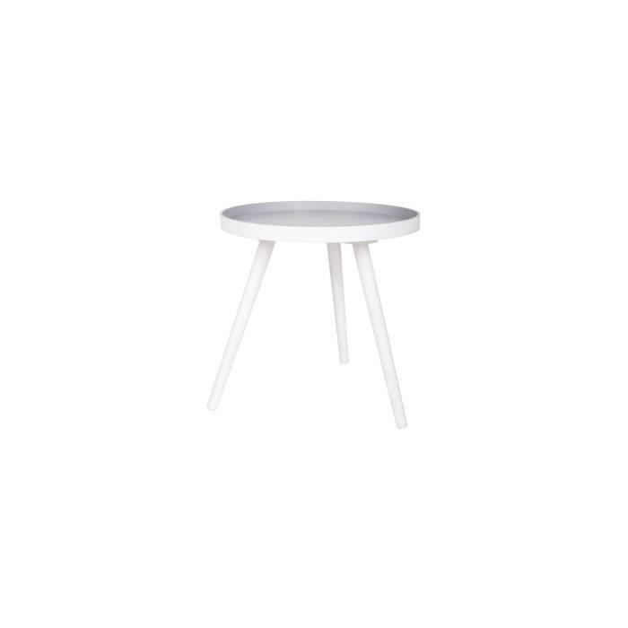 Table basse ronde tr pied false couleur blanc achat - Table basse ronde blanc ...