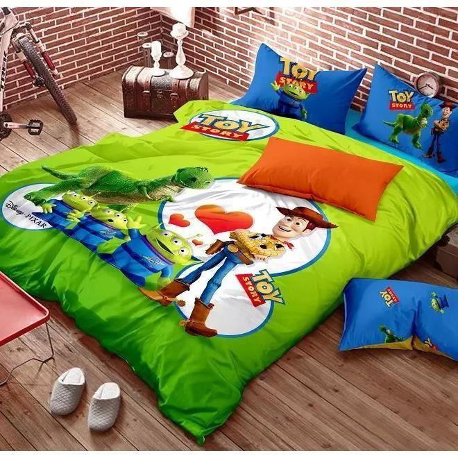 Parure de lit toy story 200 230cm 4 pieces achat vente housse de couette cdiscount - Housse de couette toys story ...