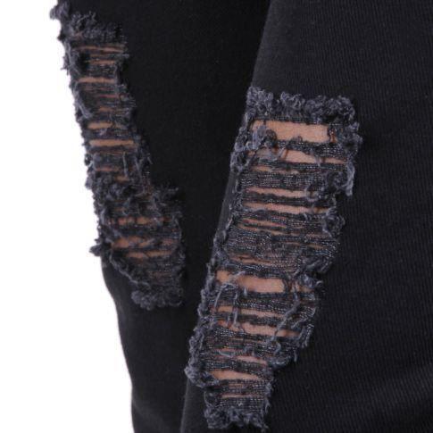 jeans boyfriend noir noir achat vente jeans cdiscount. Black Bedroom Furniture Sets. Home Design Ideas
