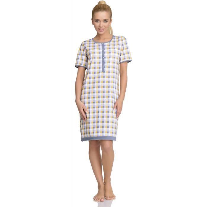 be mammy femme allaitement chemise de nuit stel gris blanc achat vente chemise de nuit. Black Bedroom Furniture Sets. Home Design Ideas
