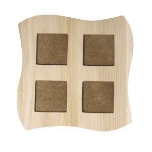 Cadre 4 fenetres carre forme vague en bois 22x22cm achat for Fenetre 60x80