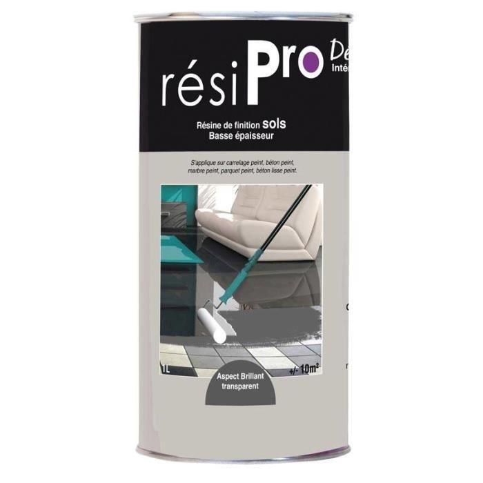 resine finition resipro sol brillant basse epaisseur 1 litre achat vente peinture vernis. Black Bedroom Furniture Sets. Home Design Ideas