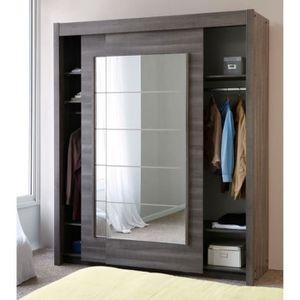 armoire porte coulissante miroir achat vente armoire porte coulissante miroir pas cher. Black Bedroom Furniture Sets. Home Design Ideas