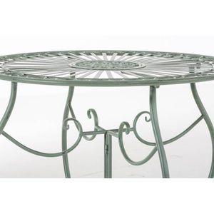 Table ronde fer forge achat vente table ronde fer - Table de jardin en fer forge pas cher ...