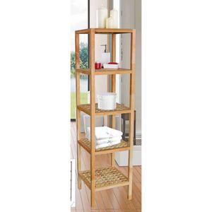 Etagere en bois pour salle de bain achat vente etagere - Etagere de salle de bain en bois ...