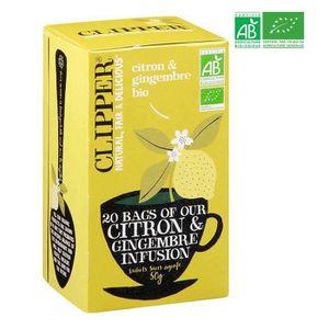 THÉ CLIPPER Infusion Citron Gingembre Bio 50g