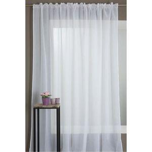 voilage blanc grande largeur achat vente voilage blanc grande largeur pas cher cdiscount. Black Bedroom Furniture Sets. Home Design Ideas