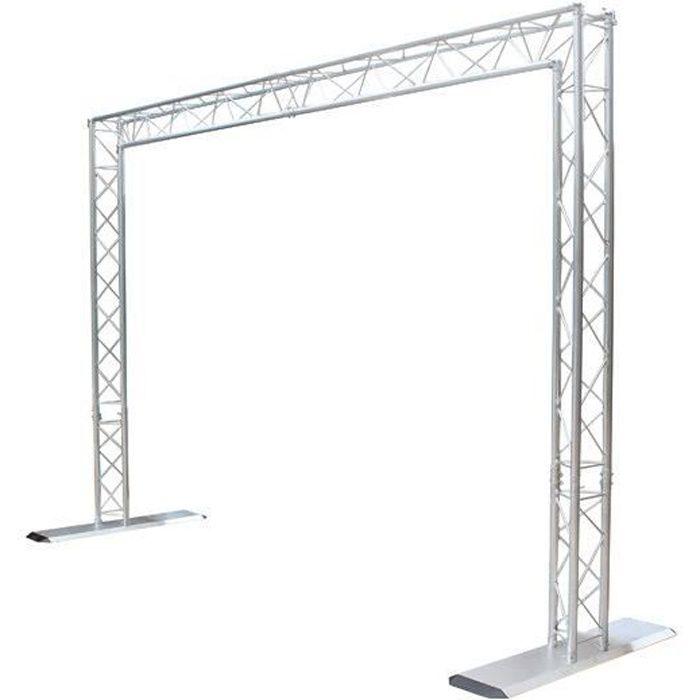 portique de lumiere en aluminium structure fixation avis et prix pas cher cdiscount. Black Bedroom Furniture Sets. Home Design Ideas