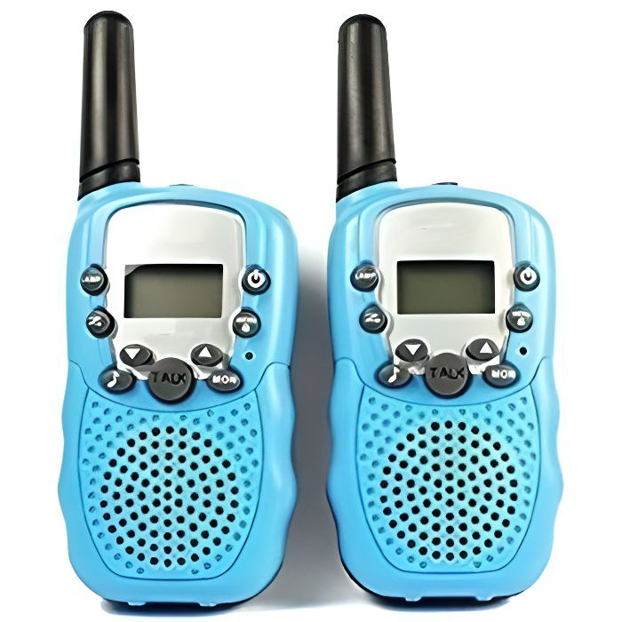 2 pcs talkie walkie enfant jouet pmr syst me 2 way radio walky talky distance 1 km avec led. Black Bedroom Furniture Sets. Home Design Ideas