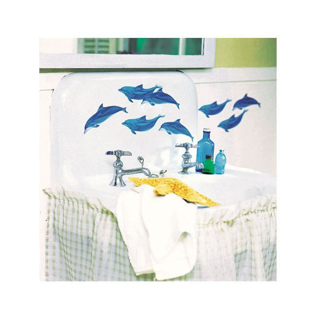 Dauphins stickers muraux 25 d coupes achat vente stickers dauphins - Pose stickers muraux ...