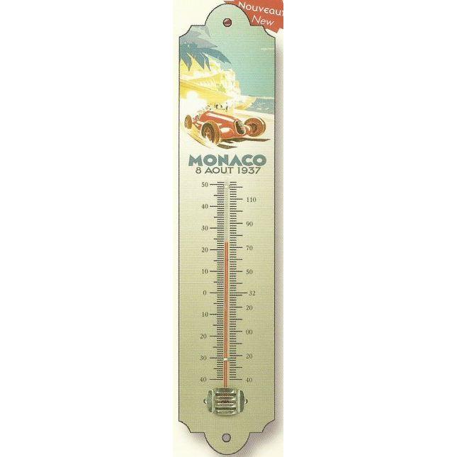 thermometre deco metal grand prix f1 monaco 1937 achat vente thermom tre barom tre. Black Bedroom Furniture Sets. Home Design Ideas
