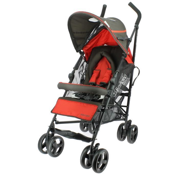 Poussette canne luxe boxter rouge habillage pluie - Habillage pluie poussette hauck ...