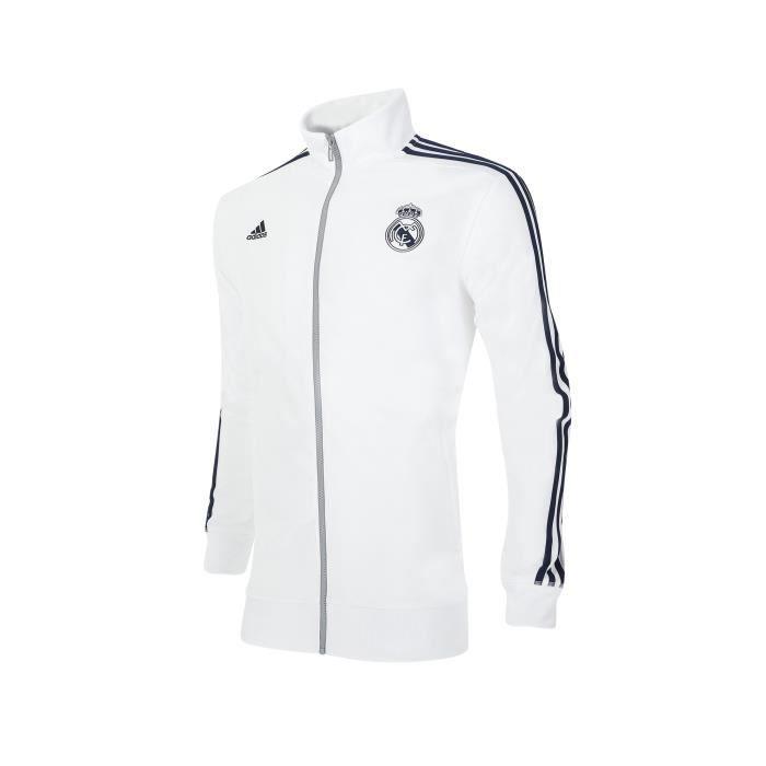veste core real madrid blanc argent multicouleur achat vente veste de sport cdiscount. Black Bedroom Furniture Sets. Home Design Ideas