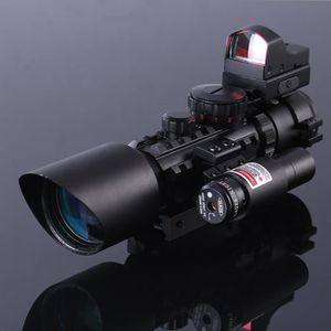 LONGUE-VUE Lunettes de visée Fusil 3-10X42 Portée w / Laser R