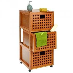 Meuble de salle de bain roulettes 3 tiroirs achat for Meuble salle de bain pour ranger serviette
