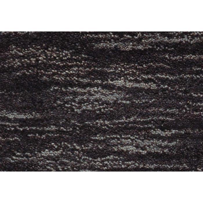 Allotapis Tapis En Laine Tuft Main Courtes M Ches Uni Noir Mia 200x290cm Noir Achat