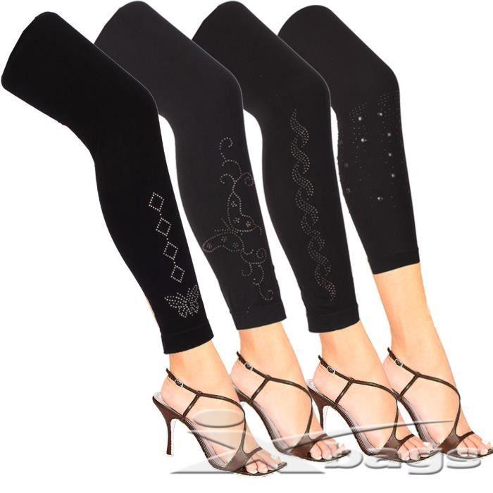 lot de 10 leggings femme tu chaud hiver polaire strass brillant noir achat vente legging. Black Bedroom Furniture Sets. Home Design Ideas