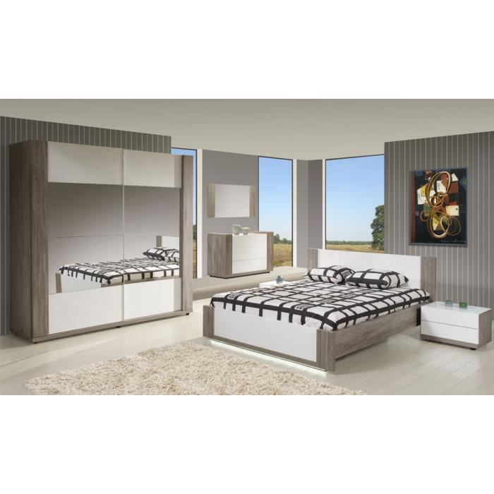 Chambre adulte compl te 160 200 irene l 160 x l 200 for Chambre complete adulte cdiscount