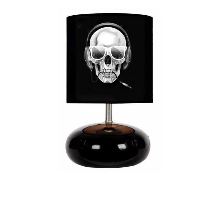 kikoucoeur lampe de chevet tete de mort pied boule achat vente kikoucoeur lampe de chevet. Black Bedroom Furniture Sets. Home Design Ideas