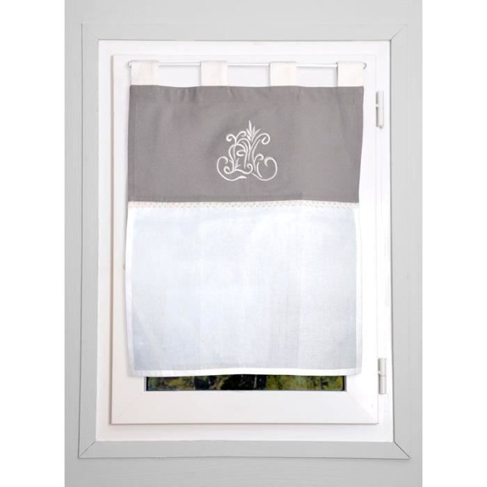 rideau droit brise bise 45x60cm charme d 39 antan bi ton 100 coton achat vente brise. Black Bedroom Furniture Sets. Home Design Ideas