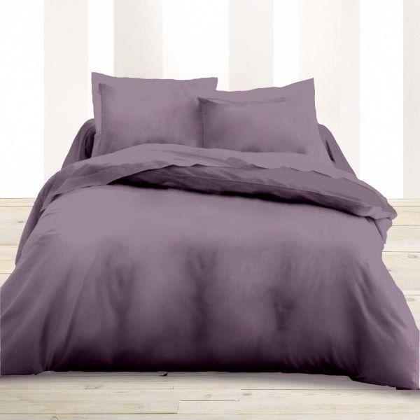 housse de couette 260x240cm couleur mauve 59 achat vente housse de couette cdiscount. Black Bedroom Furniture Sets. Home Design Ideas