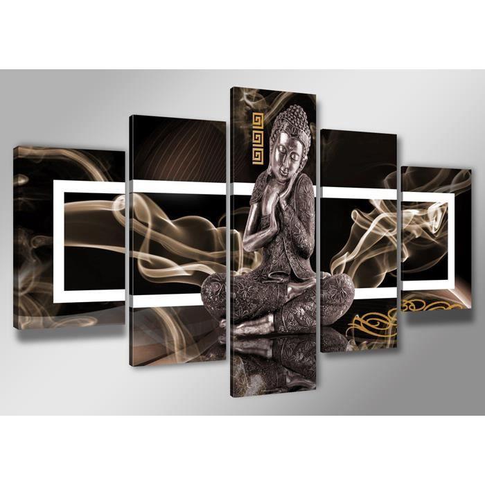 Tableau moderne imprim 200x100 cm bouddha achat vente tableau toile - Tableau decoration salon pas cher ...