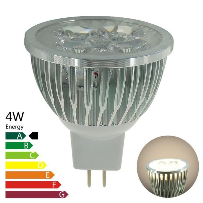 ampoule led mr16 gu5 3 4 watt blanc naturel achat. Black Bedroom Furniture Sets. Home Design Ideas