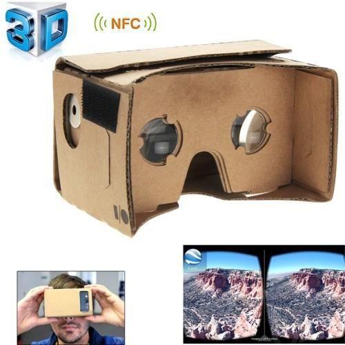 lunettes r alit virtuelle google cardboard 3d tag nfc lunettes 3d avis et prix pas cher. Black Bedroom Furniture Sets. Home Design Ideas