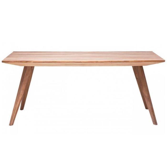 Table repas wild en bois massif 160 cm achat vente - Table sejour bois massif ...