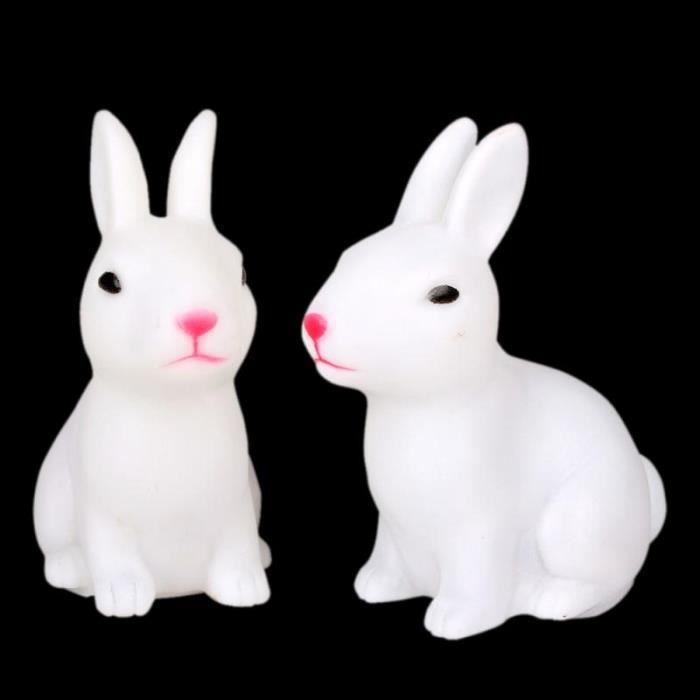 2pcs changement de couleur lapin mignon en forme de led for Lampe de chevet lapin