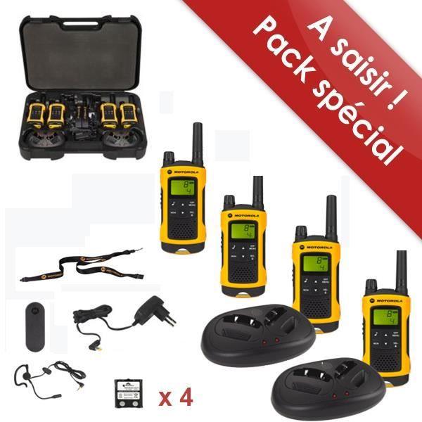 motorola t80 extreme quad achat talkie walkie pas cher avis et meilleur prix cdiscount. Black Bedroom Furniture Sets. Home Design Ideas