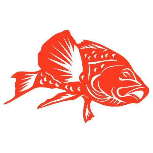 Sticker poisson rouge 40 cm achat vente stickers for Achat poisson rouge 92