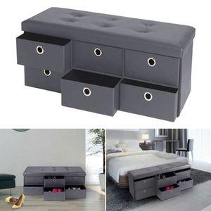 banc de rangement avec tiroir achat vente banc de. Black Bedroom Furniture Sets. Home Design Ideas