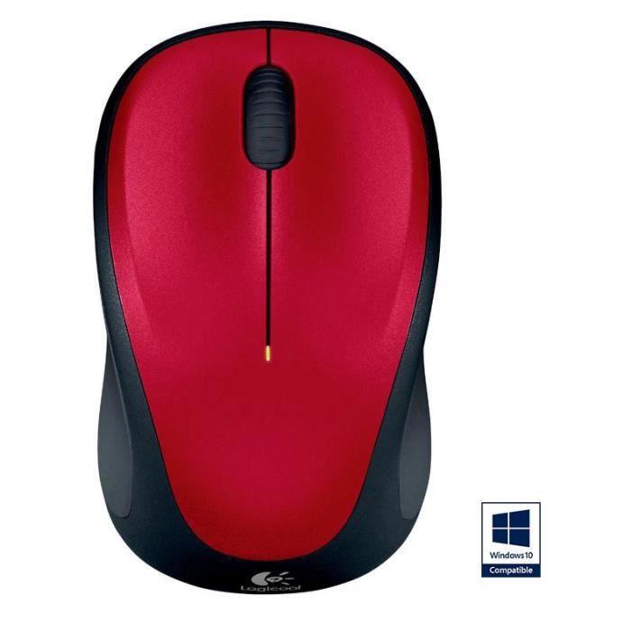 logitech souris sans fil optique m235 red prix pas cher cdiscount. Black Bedroom Furniture Sets. Home Design Ideas