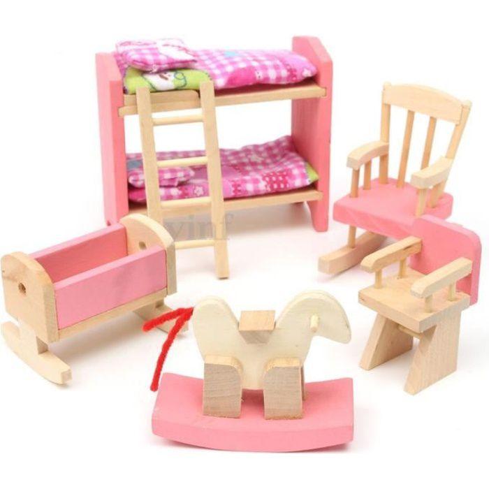 bois maison de poup e meubles pour des enfants jouet miniature ensemble salle de p pini re. Black Bedroom Furniture Sets. Home Design Ideas
