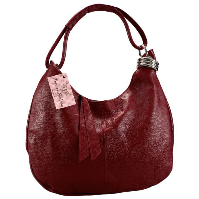 sac main cuir grain gina rouge fonc achat vente sac main cuir grain gi cdiscount. Black Bedroom Furniture Sets. Home Design Ideas