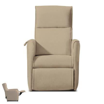 fauteuil de relaxation m canisme manuel microfibre coloris antilope achat vente fauteuil. Black Bedroom Furniture Sets. Home Design Ideas