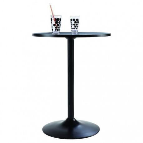Table ronde de cuisine noire achat vente table de - Table de cuisine 6 personnes ...