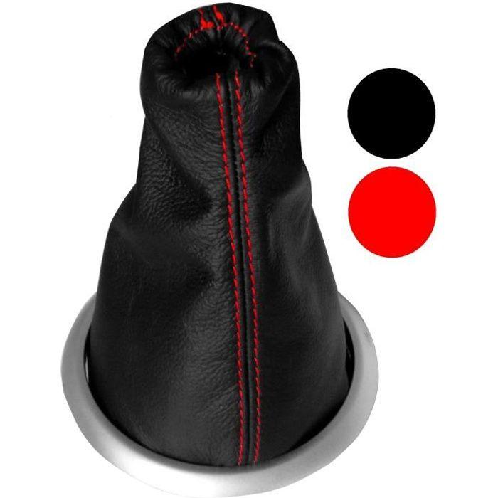 soufflet levier vitesse cuir c rouge citroen c3 achat vente levier pommeaux soufflet. Black Bedroom Furniture Sets. Home Design Ideas