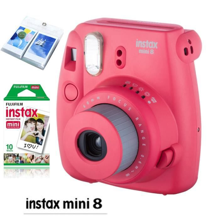 fujifilm instax appareil mini 8 rouge framboise plus photovideopascher. Black Bedroom Furniture Sets. Home Design Ideas