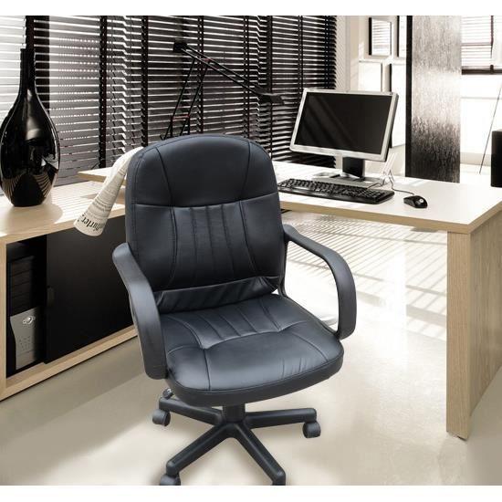 Chaise bureau noir achat vente chaise de bureau noir - Chaise de bureau noir ...