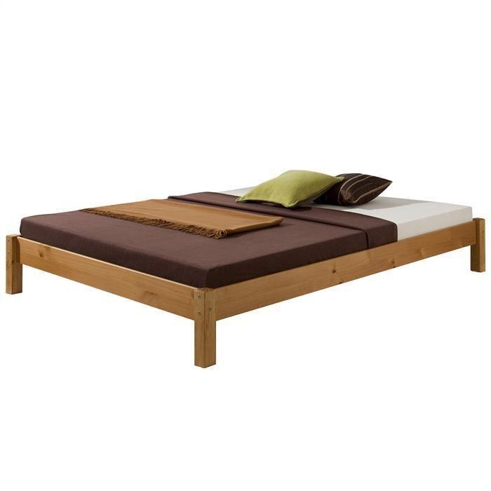 lit futon taifun 120x200 cm lasur coul miel achat. Black Bedroom Furniture Sets. Home Design Ideas