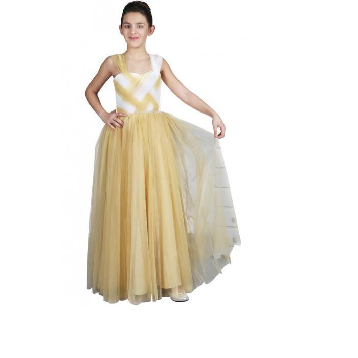robe de fille pour mariage or ou ceinture stra or achat vente robe de c r monie cadeaux. Black Bedroom Furniture Sets. Home Design Ideas
