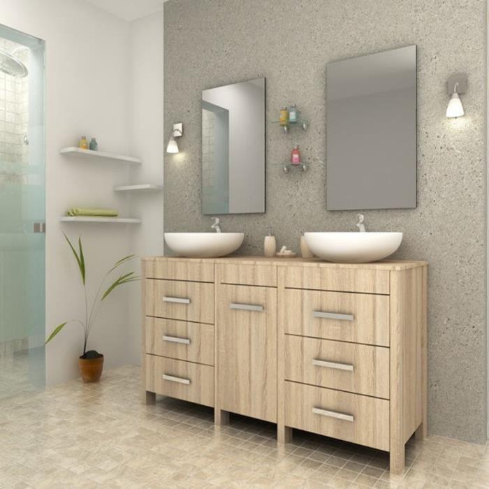 Ensemble meuble salle de bain sensa beige paris prix achat vente salle de bain complete - Prix salle de bains complete ...