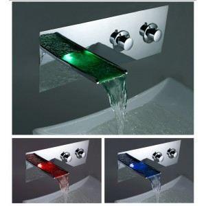Mitigeur salle de bains led lumineux cascade msw01 achat vente robinetter - Robinet led salle de bain ...