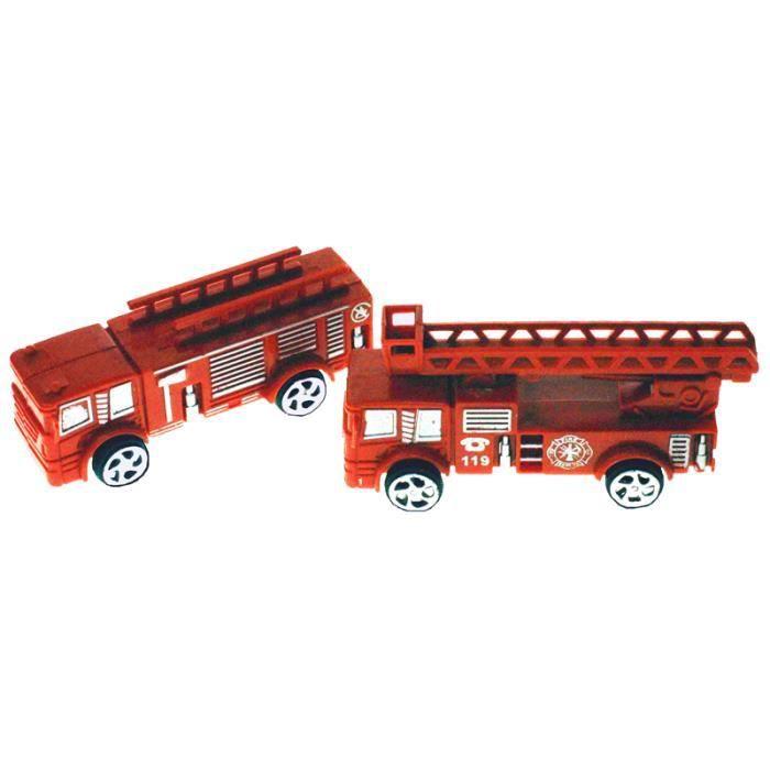 Camion de pompier 9 cm 24 achat vente voiture camion cdiscount - Vente camion pompier ...