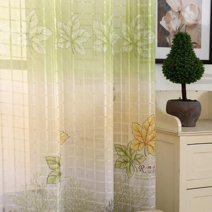 rideaux oeillet feuille achat vente rideaux oeillet feuille pas cher les soldes sur. Black Bedroom Furniture Sets. Home Design Ideas